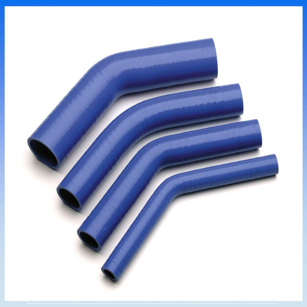 60mm 2 3 8 I D Blue 45 Degree Silicone Elbow Hose Pipe